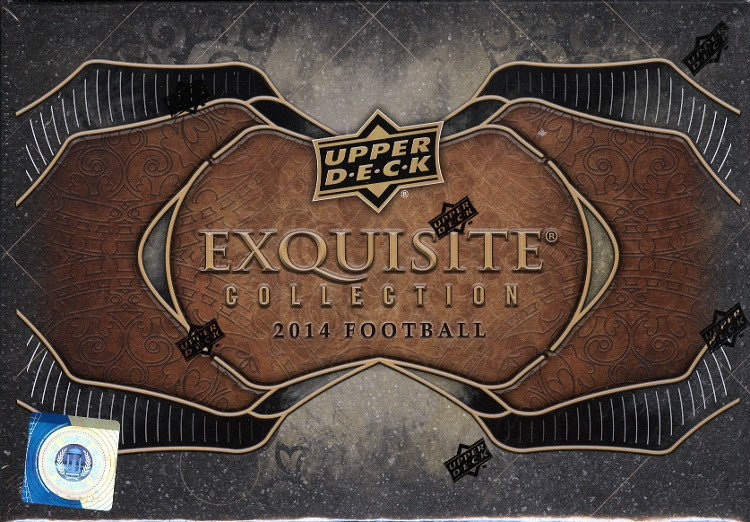 2014 Upper Deck Exquisite Hobby Football 3 Box Case