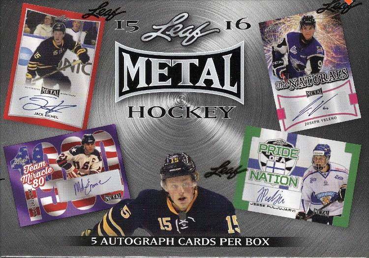 2015/16 Leaf Metal Hockey 15 Box Case