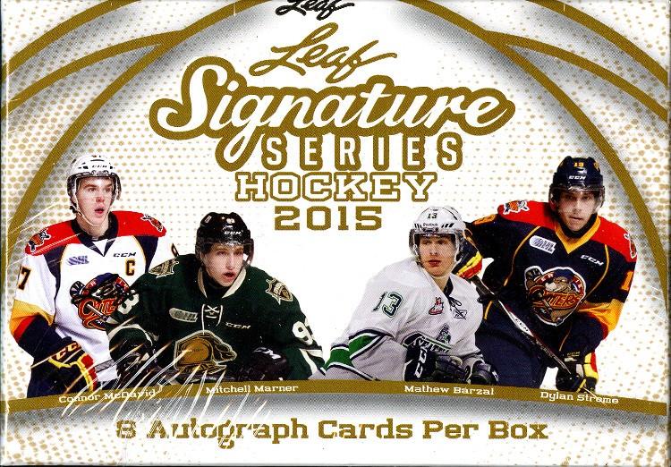 2015/16 Leaf Signature Series Hockey Hobby 12 Box Case