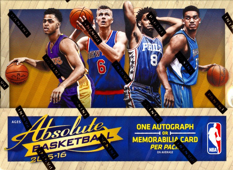 2015/16 Panini Absolute Basketball Hobby 10 Box Case