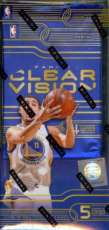 2015/16 Panini Clear Vision Basketball Hobby 8 Box Case