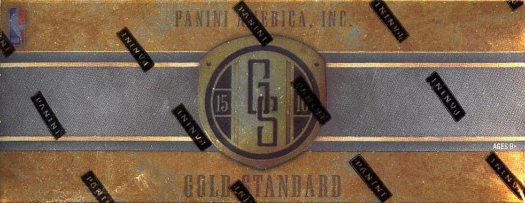 2015/16 Panini Gold Standard Basketball Hobby 12 Box Case