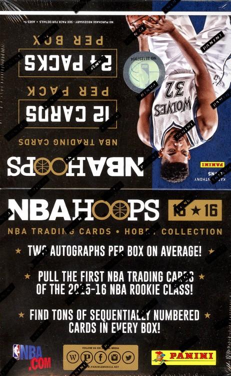 2015/16 Panini NBA Hoops Basketball Hobby 20 Box Case