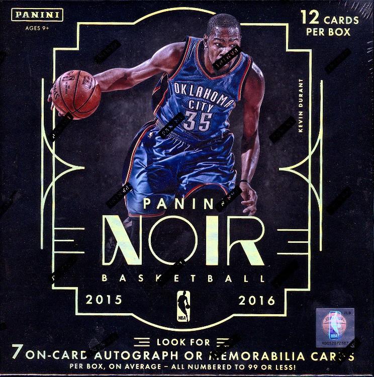 2015/16 Panini Noir Basketball Hobby 3 Box Case