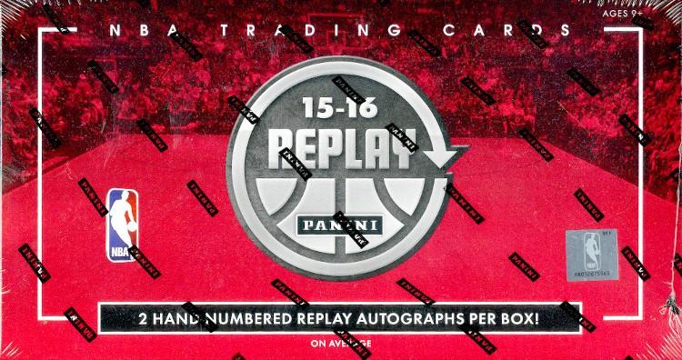 2015/16 Panini Replay Basketball Hobby 10 Box Case