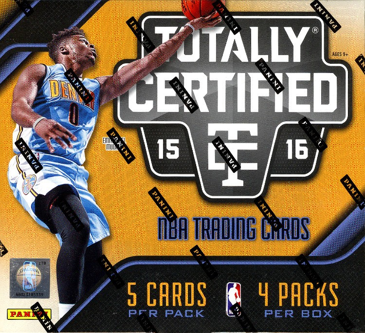 2015/16 Panini Totally Certified Basketball Hobby 15 Box Case
