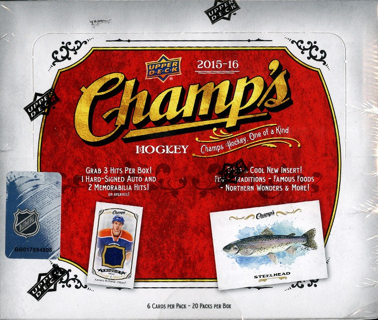 2015/16 Upper Deck Champs Hockey Hobby 10 Box Case