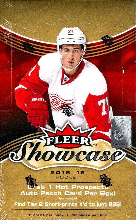 2015/16 Upper Deck Fleer Showcase Hockey Hobby 16 Box Case