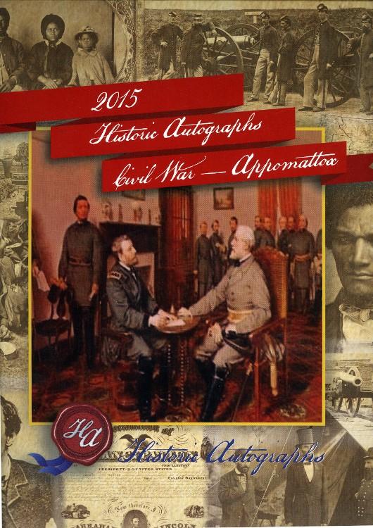 2015 Historic Autographs Civil War Appomattox Premium 5 Box Case