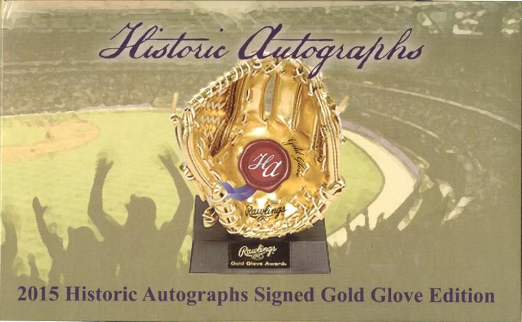 2015 Historic Autographs Gold Glove Edition Baseball 12 Box Case