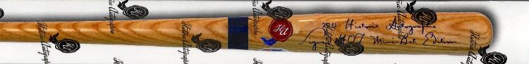 2015 Historic Autographs Signed Mini-Bat Edition Baseball Box