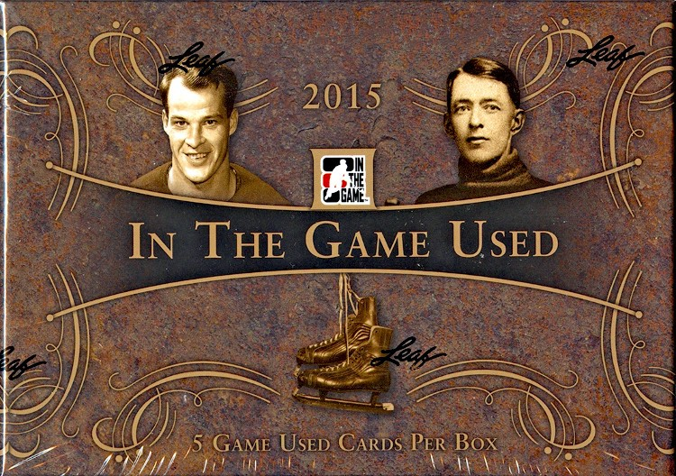 2015 In The Game (ITG) Game Used Hockey Box