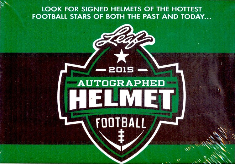 2015 Leaf Autographed Full Sized Helmet Football 4 Box Case