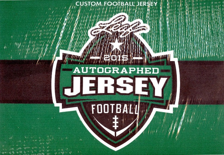 2015 Leaf Autographed Football Jersey Edition Football 8 Box Case