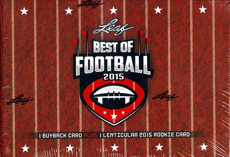 2015 Leaf Best of Football 4 Box Case