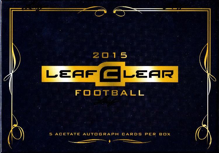 2015 Leaf Clear Football Hobby 12 Box Case