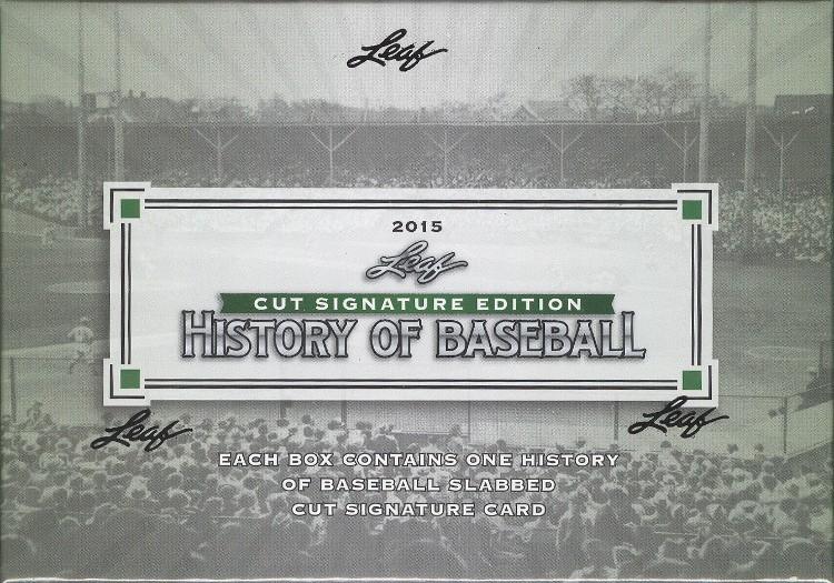 2015 Leaf History of Baseball Cut Signature Box