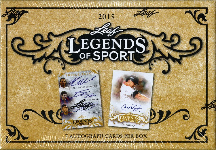 2015 Leaf Legends of Sport Trading Cards 5 Box Case