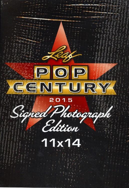2015 Leaf Pop Century Signed 11x14 Photograph Edition 10 Box Case