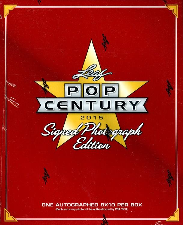 2015 Leaf Pop Century Signed 8x10 Photograph Edition Box