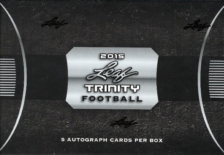 2015 Leaf Trinity Football Hobby 12 Box Case
