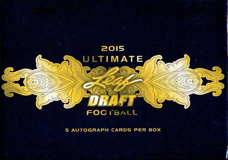 2015 Leaf Ultimate Draft Football Hobby 10 Box Case