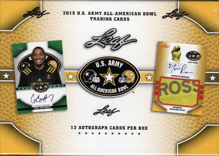 2015 Leaf US Army All American Football 12 Box Case