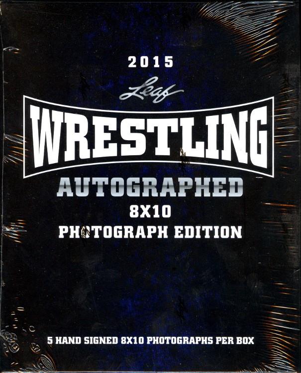 2015 Leaf Wrestling Signed 8x10 Photograph Edition Box