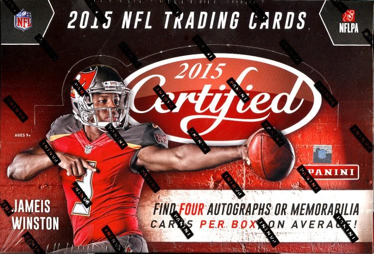 2015 Panini Certified Football Hobby 12 Box Case