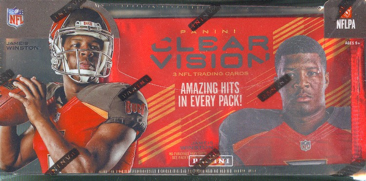 2015 Panini Clear Vision Football Hobby 9 Box Case