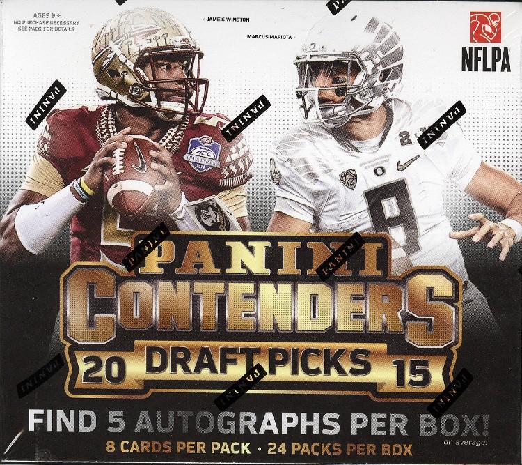 2015 Panini Contenders Draft Picks Football Hobby 12 Box Case