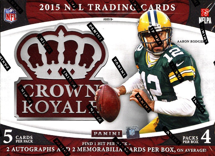 2015 Panini Crown Royale Football Hobby 12 Box Case