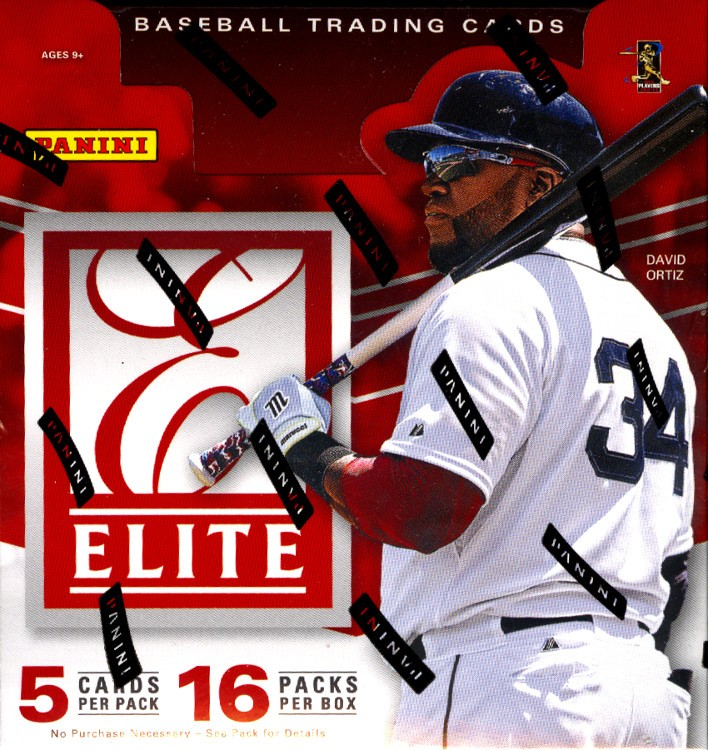 2015 Panini Elite Baseball Hobby 12 Box Case
