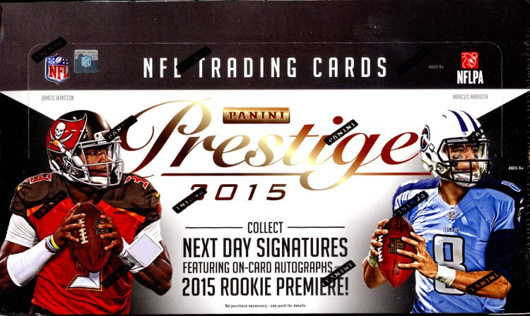 2015 Panini Prestige Football Hobby 12 Box Case