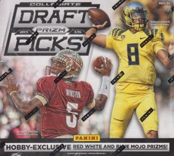 2015 Panini Prizm Collegiate Draft Football Hobby 20 Box Case