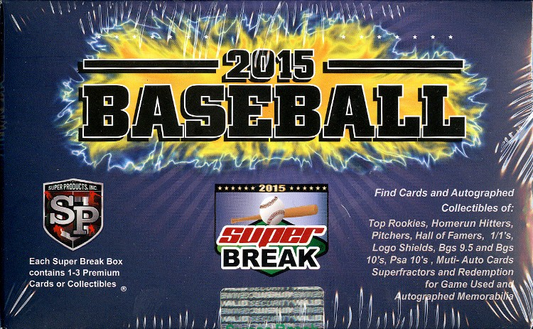 2015 Super Break Series 1 Baseball 5 Box Case