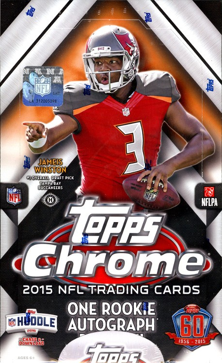 2015 Topps Chrome Football Hobby Box