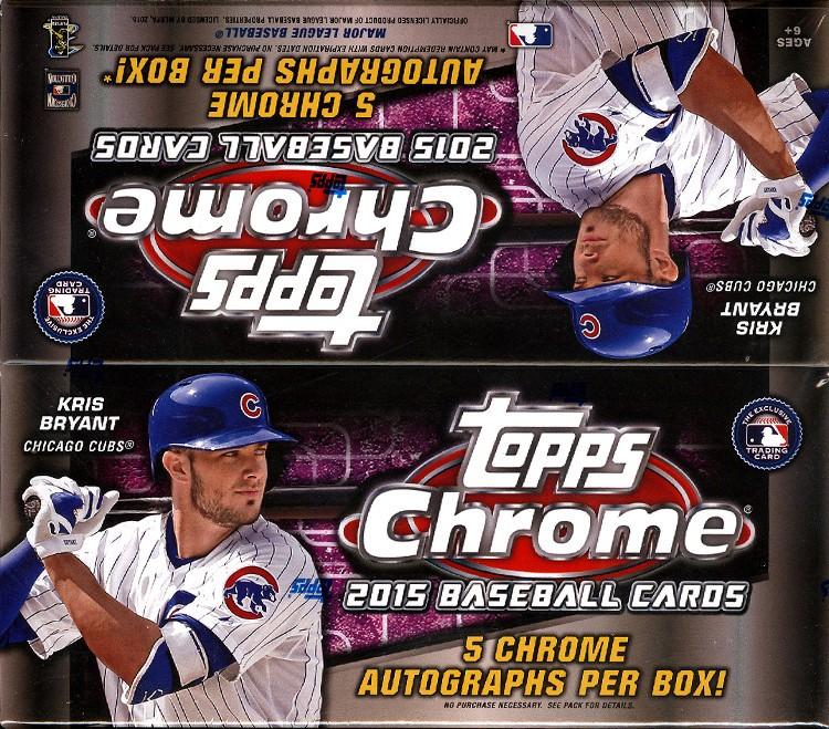 2015 Topps Chrome Baseball Jumbo 8 Box Case