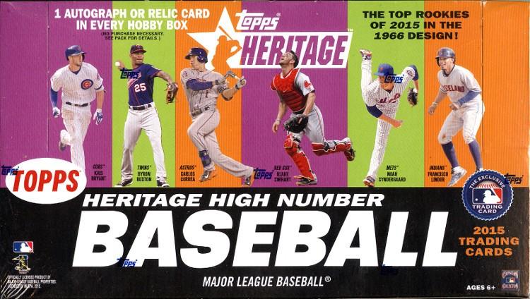 2015 Topps Heritage High Number Baseball Hobby Box