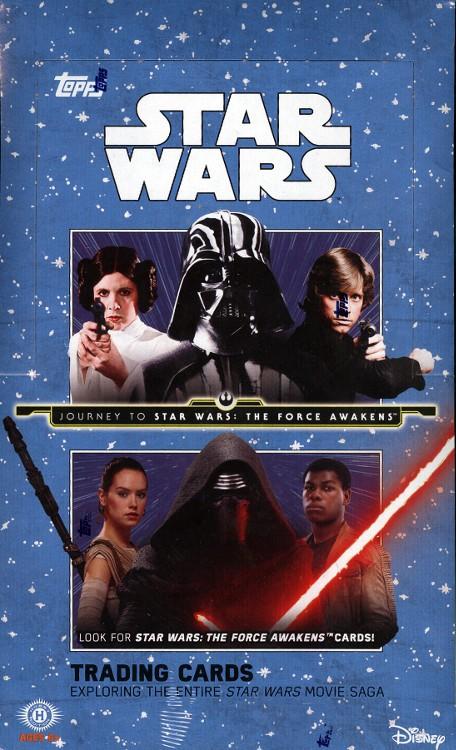 2015 Topps Star Wars Journey To The Force Awakens Hobby 12 Box Case