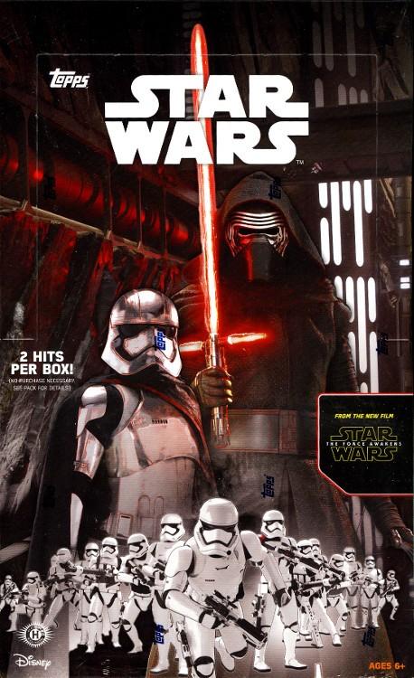 2015 Topps Star Wars The Force Awakens Series 1 Hobby Box