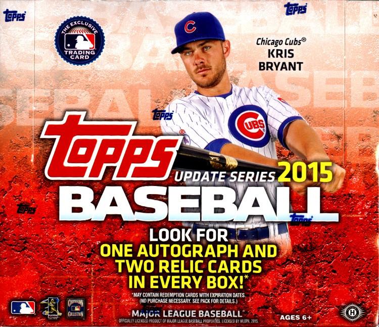 2015 Topps Update Series Baseball Jumbo Box