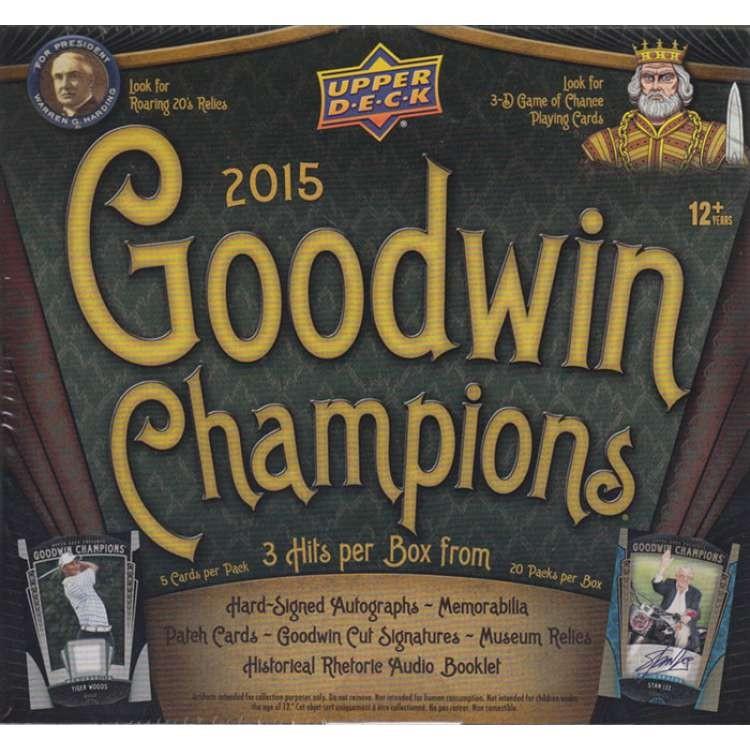 2015 Upper Deck Goodwin Champions Hobby Baseball 16 Box Case