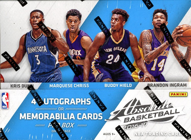2016/17 Panini Absolute Basketball Hobby 10 Box Case