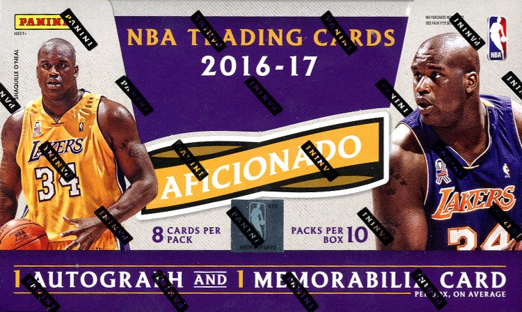 2016/17 Panini Aficionado Basketball 12 Box Case + 24 Panini Day Packs