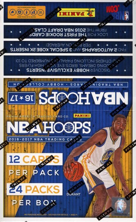 2016/17 Panini NBA Hoops Basketball Hobby 20 Box Case