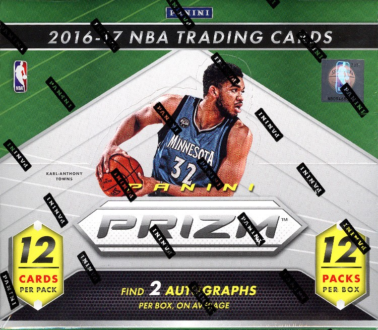 2016/17 Panini Prizm Basketball Jumbo 12 Box Case