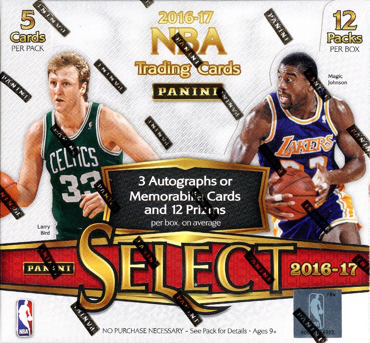 2016/17 Panini Select Basketball Hobby 12 Box Case