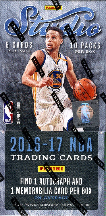 2016/17 Panini Studio Basketball Hobby 8 Box Case