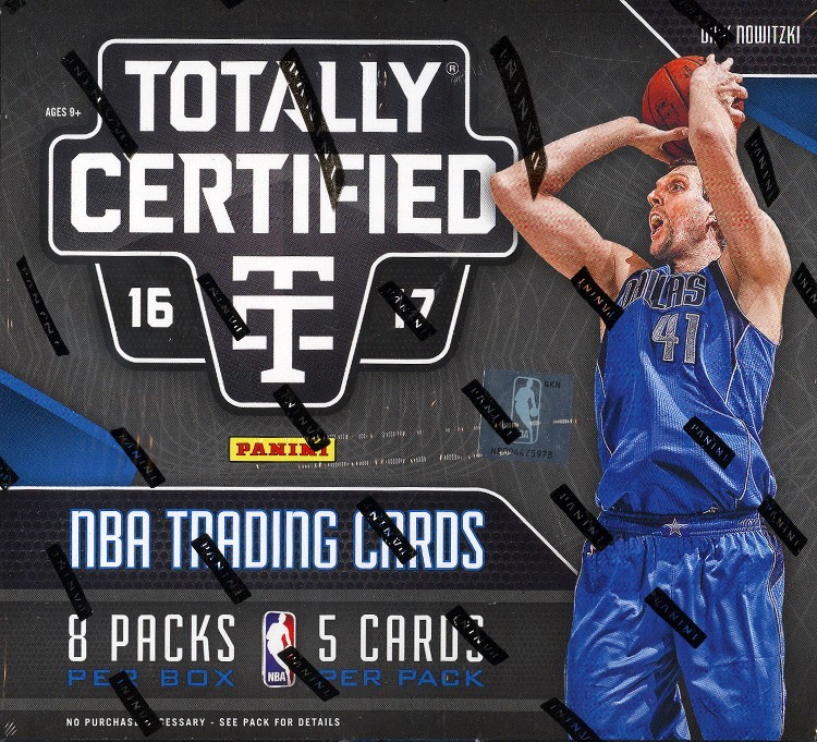 2016/17 Panini Totally Certified Basketball Hobby 8 Box Case